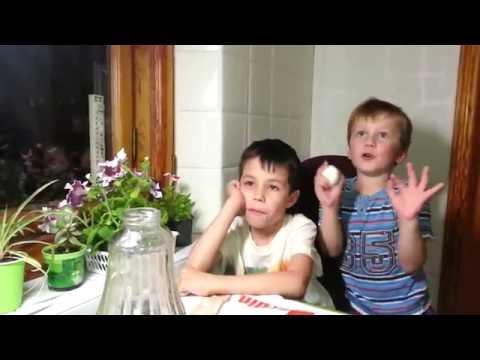 Банда команда взрывает яйца. Опыт с вареным яйцом для детей. Ржака