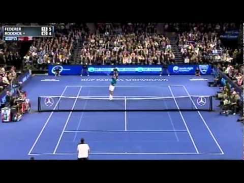 Federer vs Roddick Highlights - BNP Paribas Showdown 2012