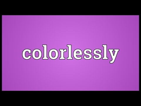 Header of colorlessly