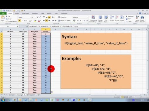 How To... Use If Statements in Excel 2010