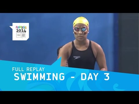 Swimming - Day 3 Men's And Women's Heats | Full Replay | Nanjing 2014 Youth Olympic Games video