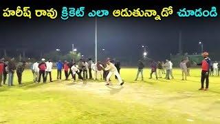 హరీష్ రావు క్రికెట్ ఎలా ఆడుతున్నాడో చూడండి |  Harish Rao Playing Cricket | Top Telugu Media