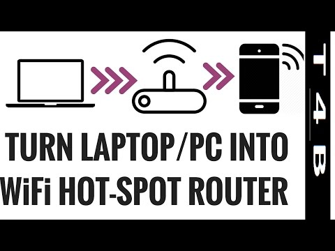 How to Turn Laptop into Wifi Hotspot Windows 7,8,10,xp PC  Router Range Extender Create WiFi HotSpot
