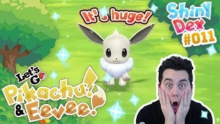 INSANE LUCK! SHINY EEVEE REACTION in POKEMON LETS GO PIKACHU AND EEVEE!