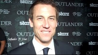 Outlander TV News' Tartan Carpet Interview with Tobias Menzies