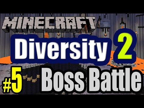 Tackle⁴⁸²⁶ Minecraft Custom Map - Diversity 2 (boss Battle - Boss อันโหดเหี้ยม) #5 video
