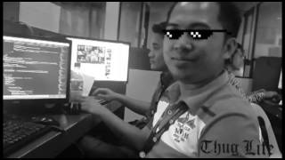 A man with fire power in the office (THUG LIFE)