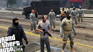 Bodyguard Army VS Zombie Horde - GTA 5 PC MOD (Zombie Infection Mod VS Army Mod)
