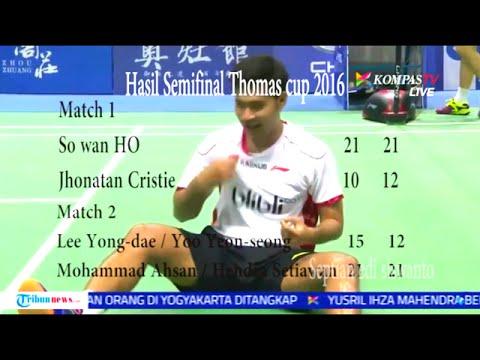 detik-detik indonesia ke final thomas cup menang 3-1 korea selatan, & thomas cup semifinal result