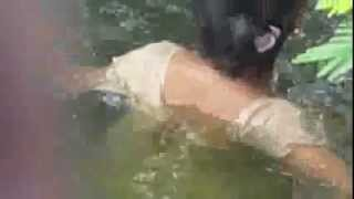 holly river bathing video