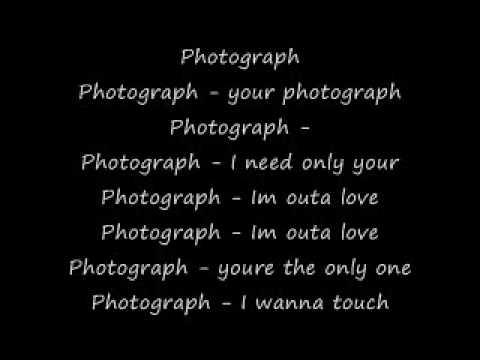 photograph def leppard lyrics youtube