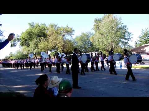 Ames High School Marching Band at Pufferbilly Days Parade 9/6/14