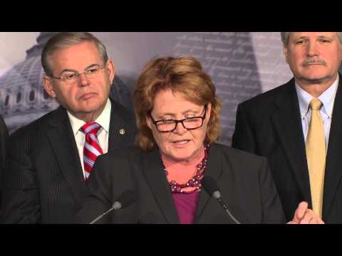 Heitkamp Discusses Flood Insurance at Press Conference on October 29, 2013