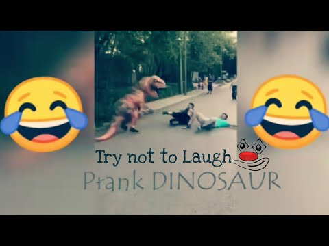 Prank Dinosaur Video || Dinosaur for kids || Funny Dinosaur video || Whatsapp Funny Status#YTvideos