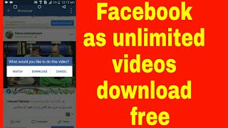 Videos  download from Facebook free