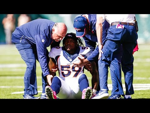 Danny Trevathan on his recovering knee cap