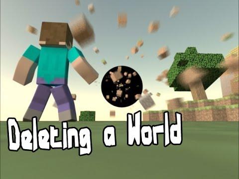 Deleting a World - Minecraft Animation