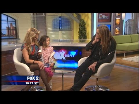 Sebastian Bach's daughter is the cutest