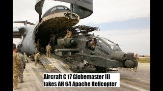 Aircraft C 17 Globemaster Iii Takes Ah 64 Apache Helicopter
