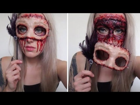 Masquerade Flesh Mask Tutorial ♡ Extremely Gory & Easy For...