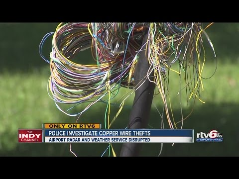 Police investigate copper wire thefts at airport