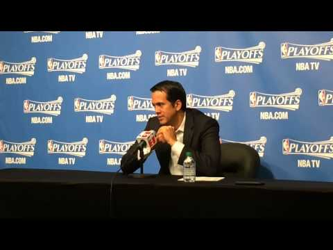 Miami Heat Coach Erik Spoelstra talks about Game 4 win over Brooklyn Nets
