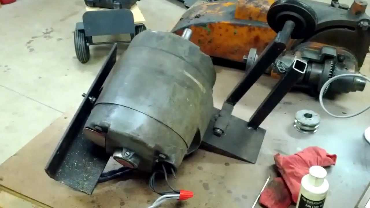 Running a GE 5KC Tri Clad motor YouTube