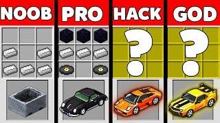 Minecraft Battle Noob Vs Pro Vs Hacker Vs God Super Car Challenge In Minecraft Animation