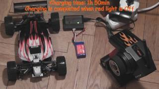4WD 2 4G High Speed Radio Remote control RC RTR Buggy Car Off Road 50kmh 118 Z   Red