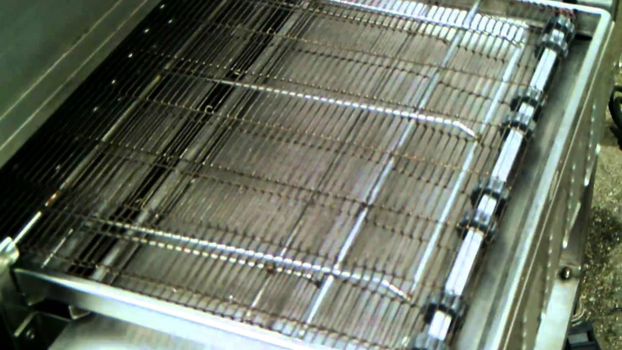 Lincoln Impinger Pizza Oven Gas Conveyor Belt Youtube
