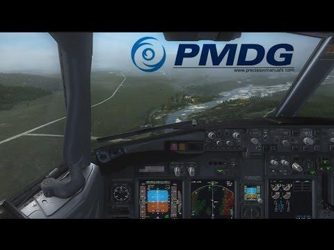 FSX VATSIM | Delta B737-800NGX | Landing at Jackson Hole Airport