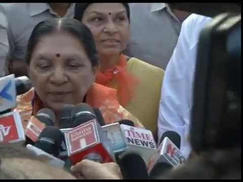 Gujarat Chief Minister speaks to media at Jagannath Mandir on Rath Yatra