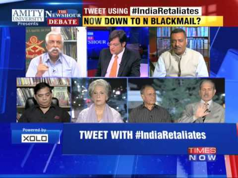 The Newshour Debate: India Retaliates - Part 1 (9th Oct 2014)
