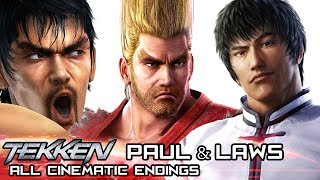 PAUL PHOENIX & MARSHALL/FOREST LAW - All Cinematic Endings in TEKKEN Series (1994-2017)