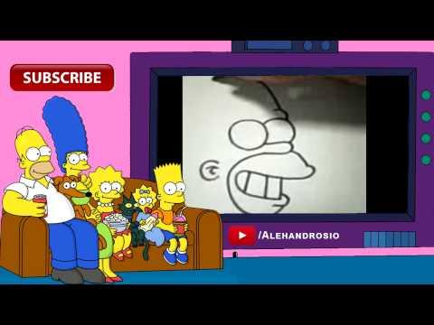 Видео как нарисовать Гомера Симпсона карандашом поэтапно