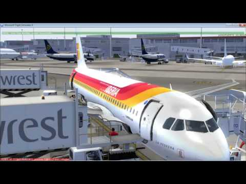 FSX  open all the doors y ground services/FSX tutorial abre todas las puertas Ground Services X