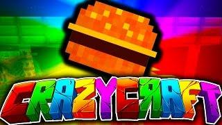 """Minecraft CRAZY CRAFT 3.0 #6 """"THE CRAZY KITCHEN!"""" (Custom Kitchen, New Food, Building?!)"""