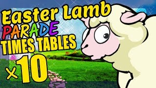 Easter Sheep Teaching Multiplication Times Tables x10 Educational Math Video for Kids