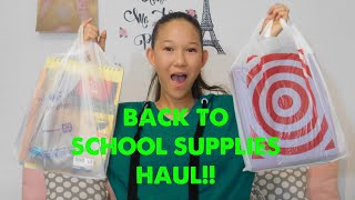 School supplies haul 2018!!