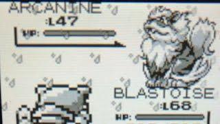Pokémon Blue Red vs Gym Leader Blaine