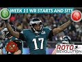 2018 Fantasy Football Lineup Advice - Week 11 WRs Start/Sit Episode