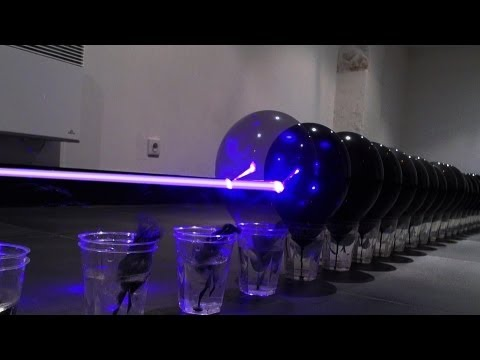 Pocket Blu-ray laser kills 100 black balloons in a row!                                    IMG *