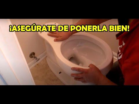 Como instalar una taza de baño