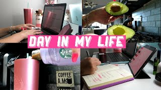 Quarantine Day in My Life // Online College & What I Eat in a Day!