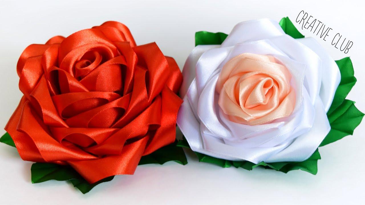 Пышная роза своими руками