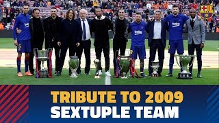 [BEHIND THE SCENES] Tribute to the 2009 sextuple winning team at the Camp Nou