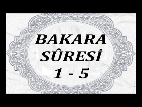 Bakara Sûresi: 1. - 5. ayetleri (