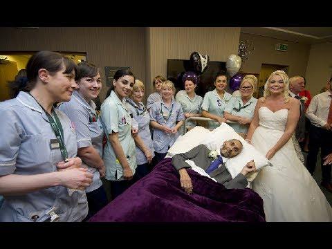 السرطان لم يأخذ منهما حلمهما ... تزوجا في المستشفى قبل 5 ايام من موعد وفاة العريس !!! 😢💔😲