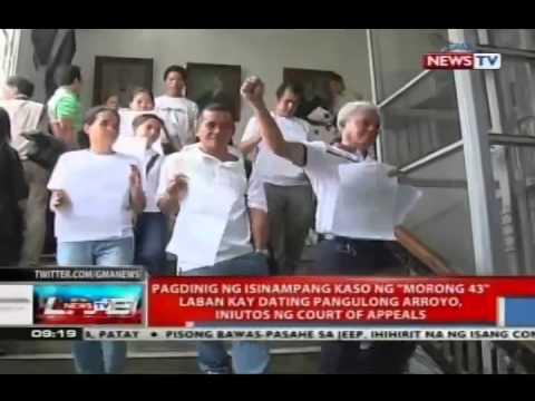 Pagdinig ng isinampang kaso ng 'Morong 43' laban kay dating Pangulong Arroyo, inuutos ng CA