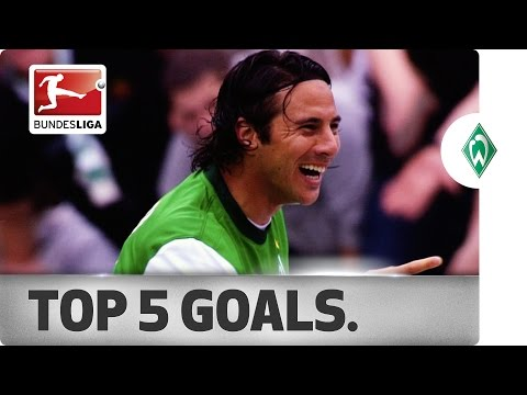 Claudio Pizarro - Top 5 Goals for Werder Bremen